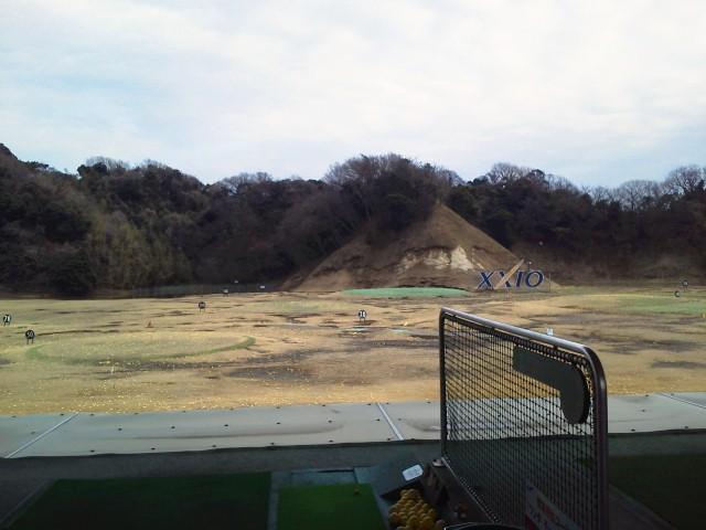 ゴルフ練習中〜♪